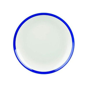 Churchill Retro Blue Coupe Plate 21.7cm - Coffeecups.co.uk