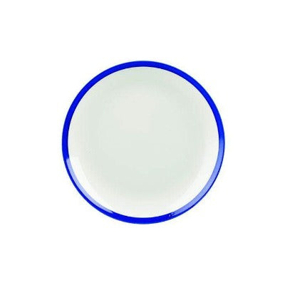 Churchill Retro Blue Coupe Plate 16.5cm - Coffeecups.co.uk