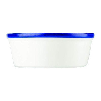Churchill Retro Blue Round Pie Dish 17.6oz - Coffeecups.co.uk