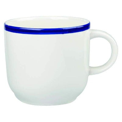 Churchill Retro Blue Cappuccino Cup 12oz - Coffeecups.co.uk