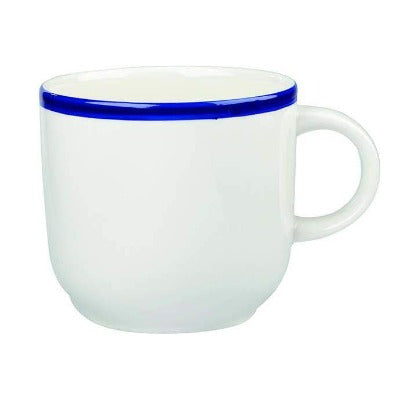 Churchill Retro Blue Cappuccino Cup 10oz - Coffeecups.co.uk