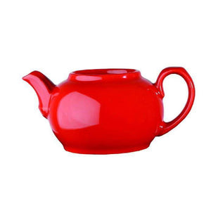 Churchill Beverage Red Nova Teapot 28oz - Coffeecups.co.uk