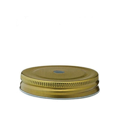 Gold Lid with Straw Hole 7.5cm - Coffeecups.co.uk