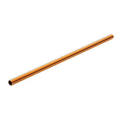 Metal Drinking Straw, Reusable- Copper Effect  14cm  BOX OF 12 WITH PIPE CLEANER