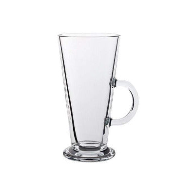 Catalina V Shaped Latte Glass 9oz - Coffeecups.co.uk