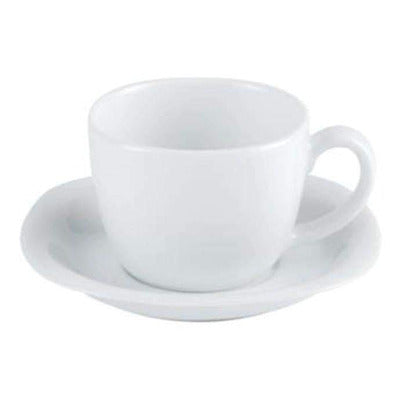 Porcelite Square Teacup 7.5oz - Coffeecups.co.uk