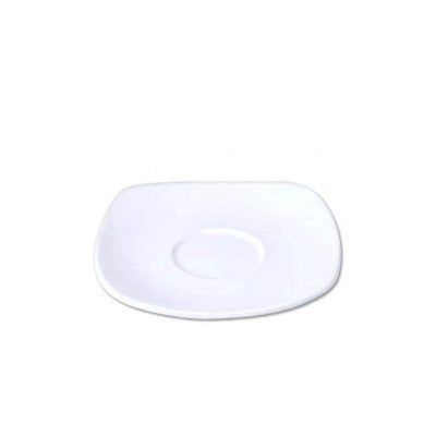 Porcelite Square Saucer 15cm - Coffeecups.co.uk