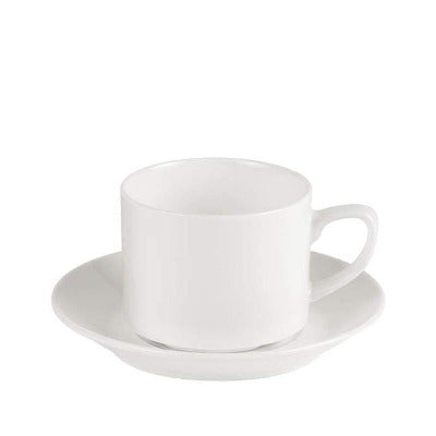 Porcelite Connoisseur Stacking Teacup 7oz - Coffeecups.co.uk