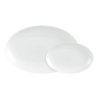 Porcelite Connoisseur Oval Plate 20cm - Coffeecups.co.uk