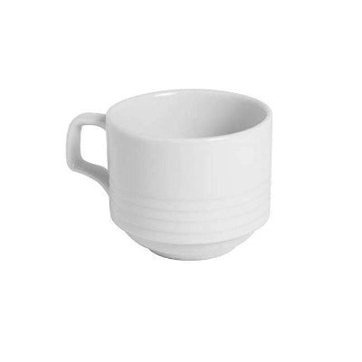 Porcelite Focus Stacking Cup 7oz - Coffeecups.co.uk