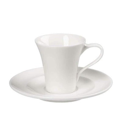 Academy Fine China Cappuccino Saucer 16cm - Coffeecups.co.uk