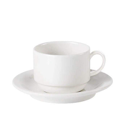 Australian Fine China Stacking Tea Cup 7.5oz - Coffeecups.co.uk