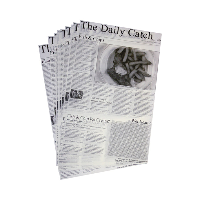 Daily Catch Greaseproof Paper (500 Sheets) - Coffeecups.co.uk
