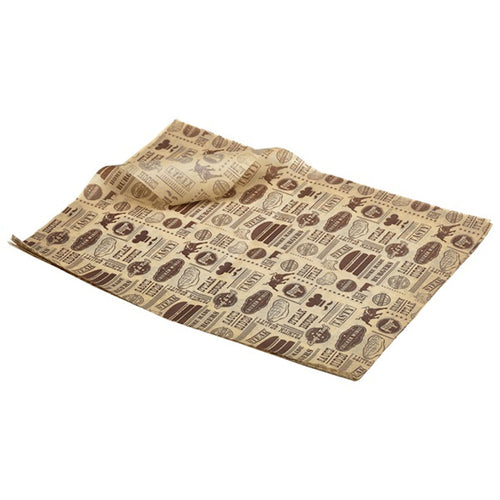 Genware Greaseproof Paper Steak House Design 35 x 25cm (1000 Sheets) - Coffeecups.co.uk