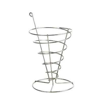 Wire Chip Cone 13 x 18cm - Coffeecups.co.uk