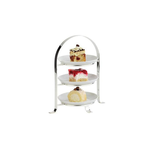 3 Tier Chrome Serving Stand 22.5cm - Coffeecups.co.uk