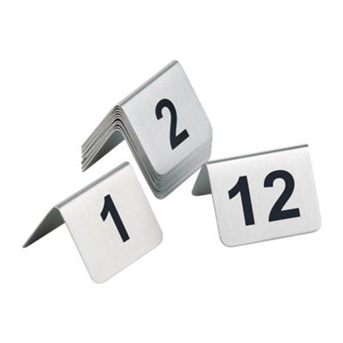 Satin Polished Table Numbers (13-24) - Coffeecups.co.uk