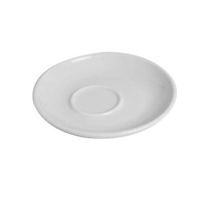 Ena Espresso Saucers Offset Well 11.5cm - Coffeecups.co.uk