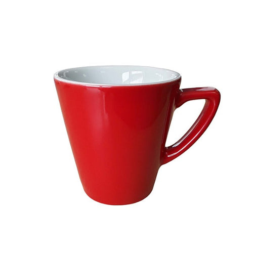 Ena Cappuccino Cup Red 10oz | Personalised Mugs | Coffeecups.co.uk
