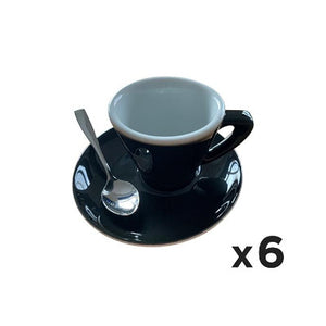Carla Black Espresso Cups & Offset Saucers Bundle