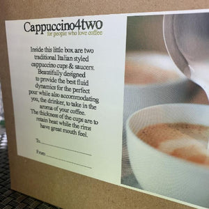 Cappuccino 4 Two Gift Box Set *Personalised with names*