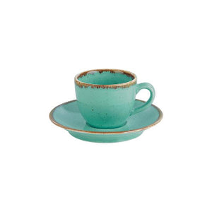 Porcelite Seasons Espresso Saucers Sea Spray 12cm | Coffeecups.co.uk