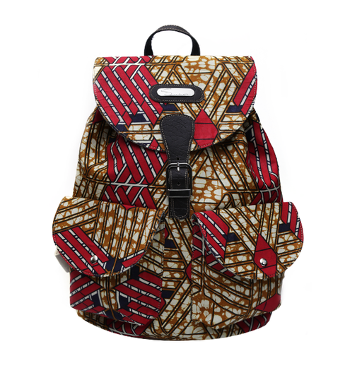Red Print Backpack