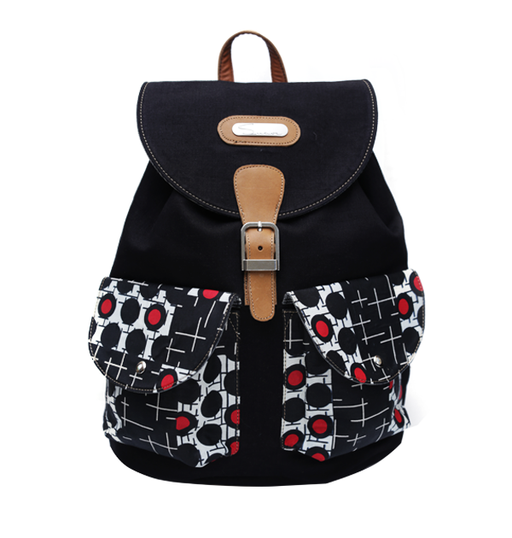 Black, Red and White Backpack