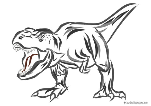 Free T-Rex Colouring Sheet