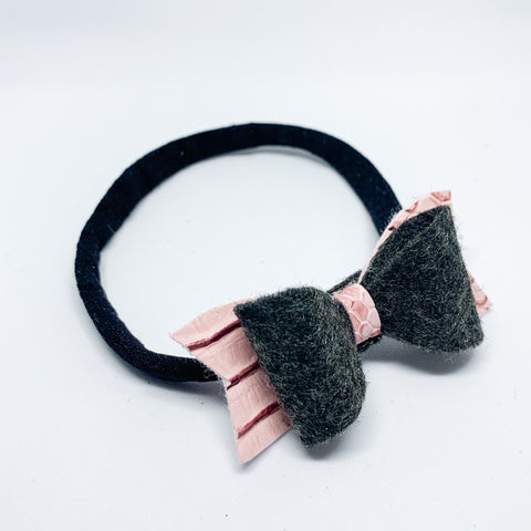 "Softie Headband with Mini Bow (2.5"")"