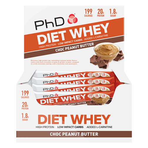 PHD NUTRITION DIET WHEY BAR 12X65G