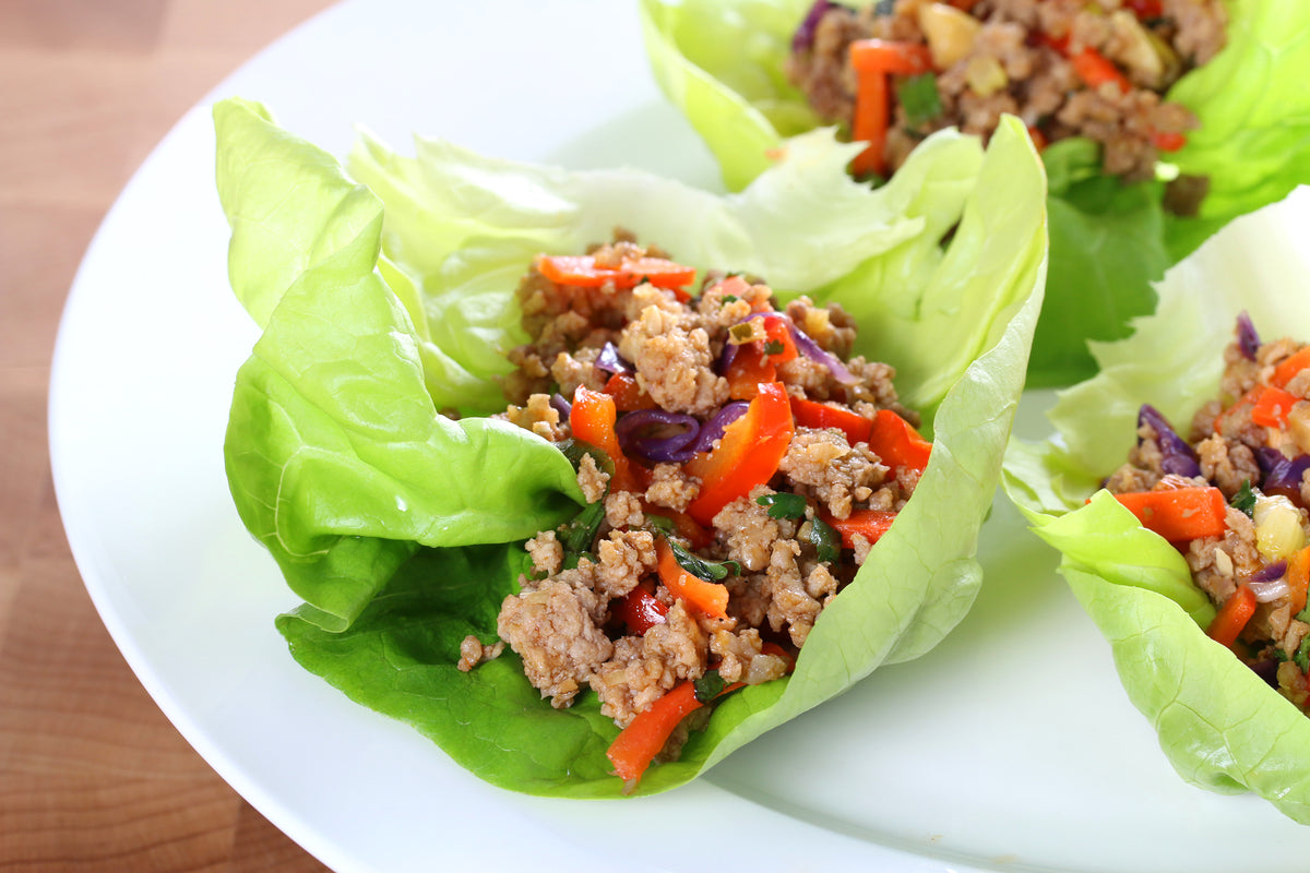 THAI LETTUCE WRAPS WITH VEAL