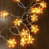 LED Snowflake String Lights