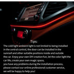 Car interior decorative light