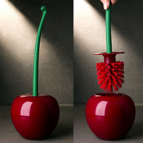 Cherry Shaped Toilet Brush & Holder Set