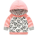 Pink and Striped wih heart Tracksuit Set - LYKEEY