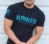ALPHALETE Letters Printed T-Shirt - LYKEEY