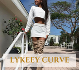 Curve Summer Elegant Crop Top Set