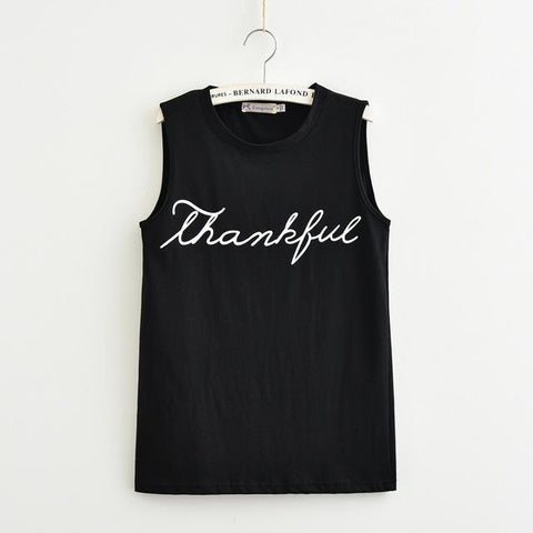 """Thankful"" Women Tank Top"