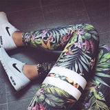 Floral Printed Bra and Leggings set - LYKEEY