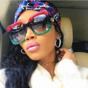 Colored Oversize Retro Luxury Sunglasses - LYKEEY