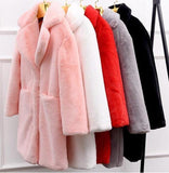 Kelly Elegant Lamb Faux Fur Coat