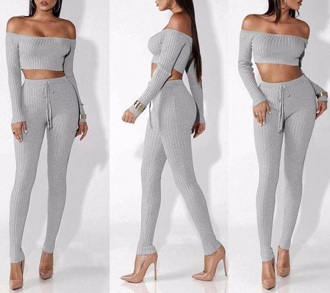Long Sleeve Slash Neck Jumpsuit - LYKEEY