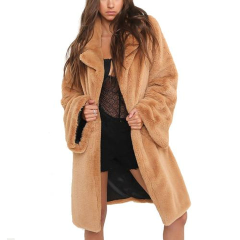 Chic Vintage Soft Faux Fur Coat