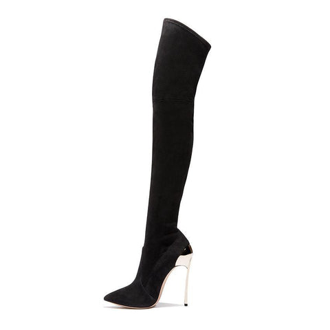 Suede Over The Knee Thigh High Boots