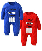 M&M Cartoon Printed Long Sleeve Jumpsuit - LYKEEY