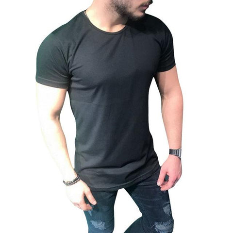 Short Sleeve Slim Fit Long T-Shirt - LYKEEY
