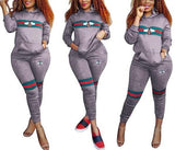 Bee Print Tracksuits Sportwear Sets