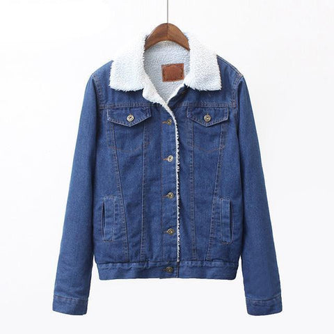 Loose Faux Fur Denim Jacket