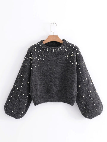 Wind Pearl Woolen Sweater